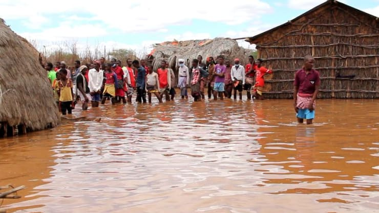 Residents in Mandera County, Kenya, displaced by flooding. The County Government of Mandera, Kenya.
